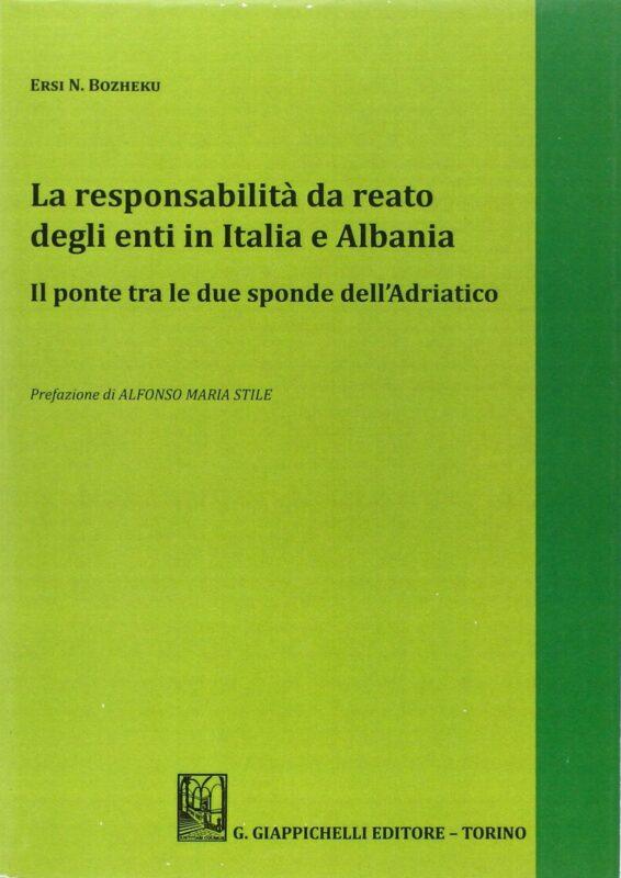La responsabilità del reato degli enti in Italia e Albania